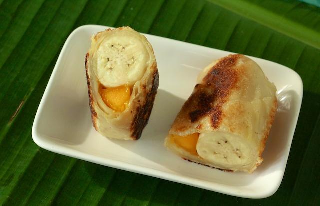 mango banana rolls
