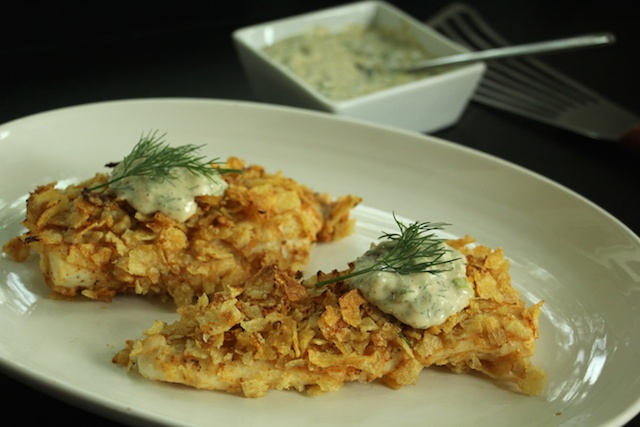 potato rose potato chip flounder with dill sauce suwannee rose
