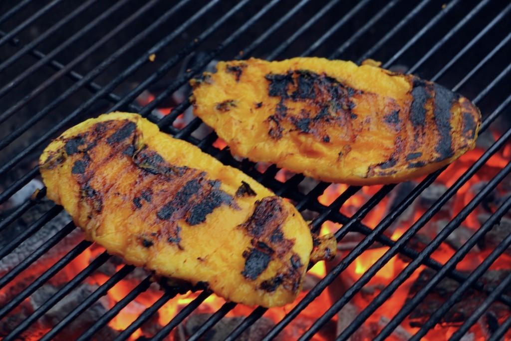 hot grilled mango cheeks