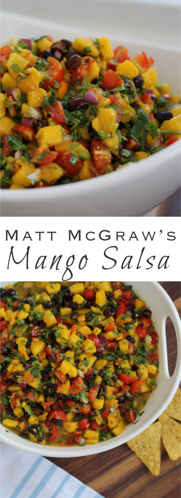 In Pine Island, Florida, where everyone has a mango tree in their backyard, Matt McGraw's mango salsa has been voted THE BEST of all time. I finally got the recipe!