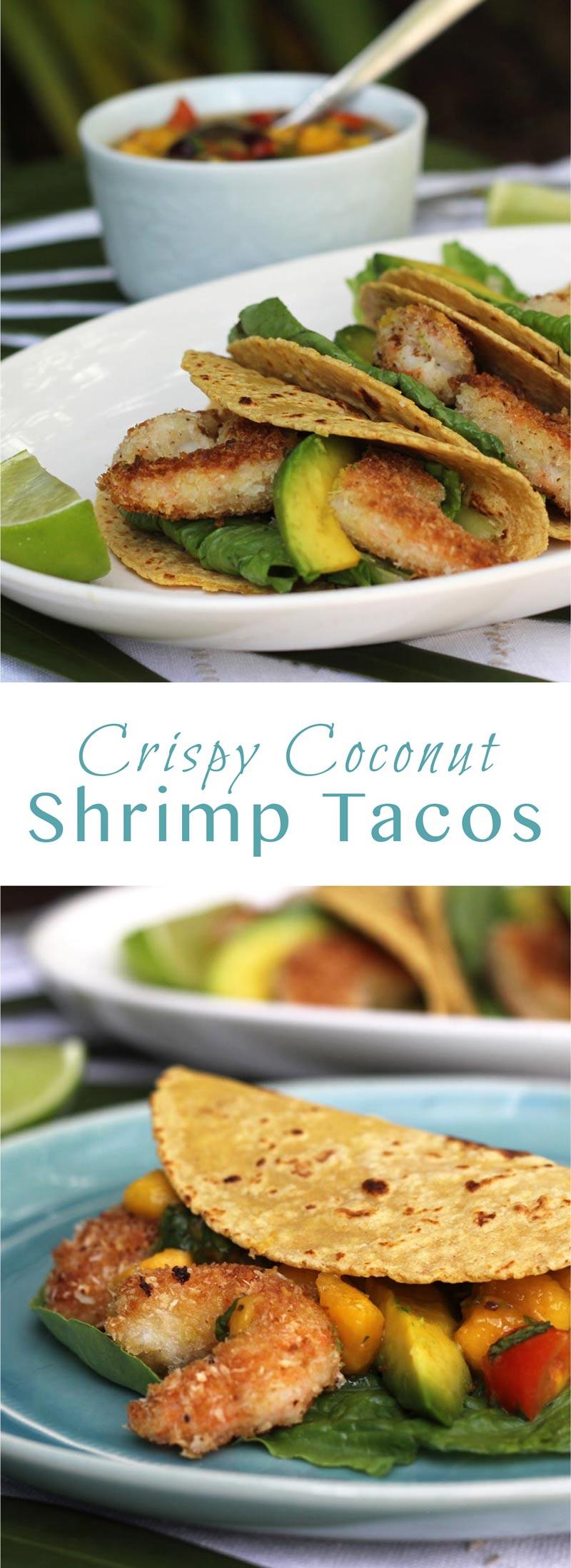 Crispy Coconut Shrimp Tacos with Mango Salsa from Suwannee Rose
