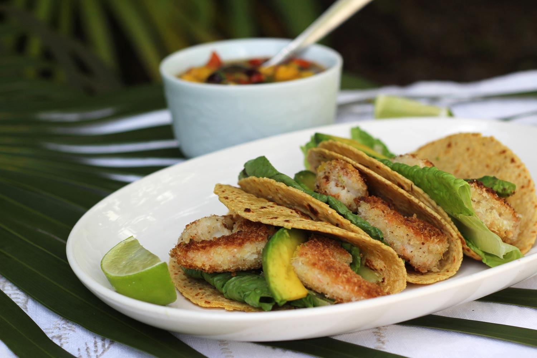 crispy coconut shrimp tacos