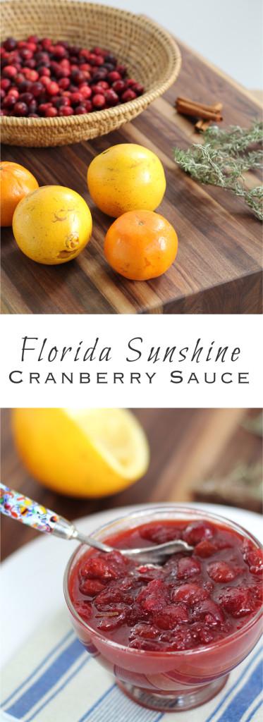 Florida Sunsine Cranberry Sauce
