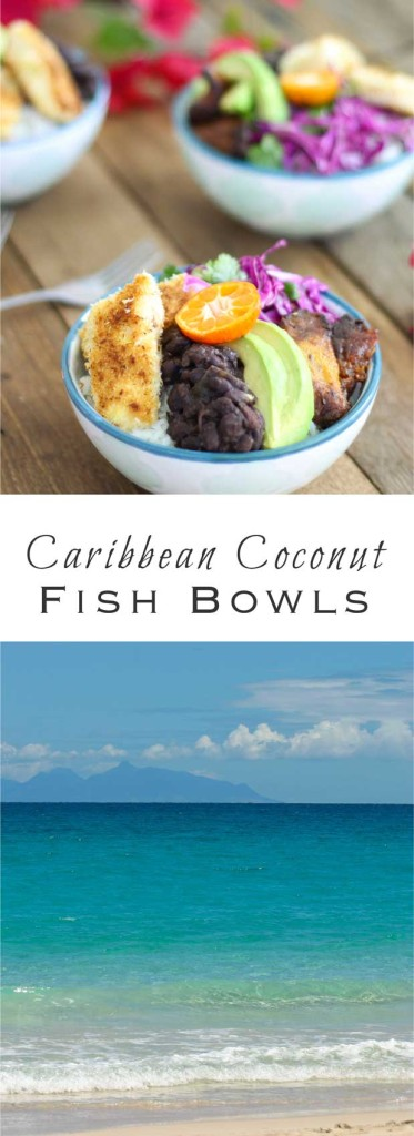Caribbean Coconut Fish Bowls: Tropical flavors and vibrant hues for dinner on your favorite island.