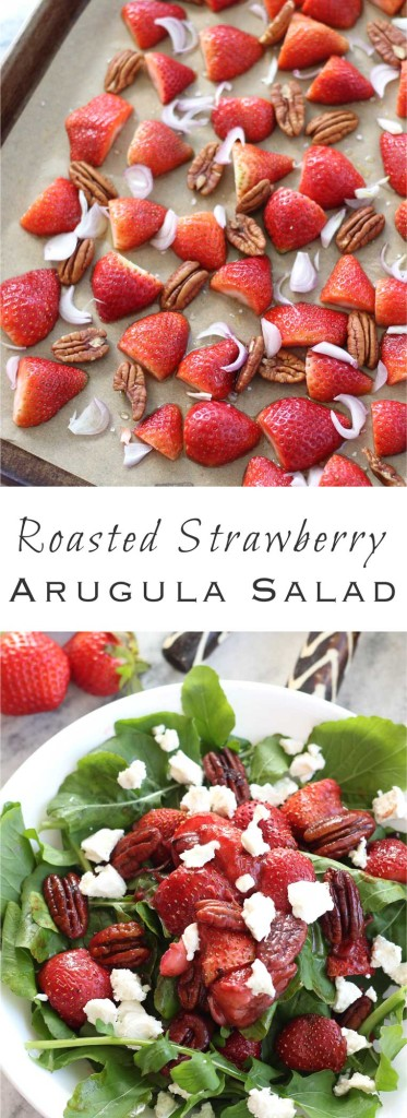 Roasted Strawberry Arugula Salad Suwannee Rose