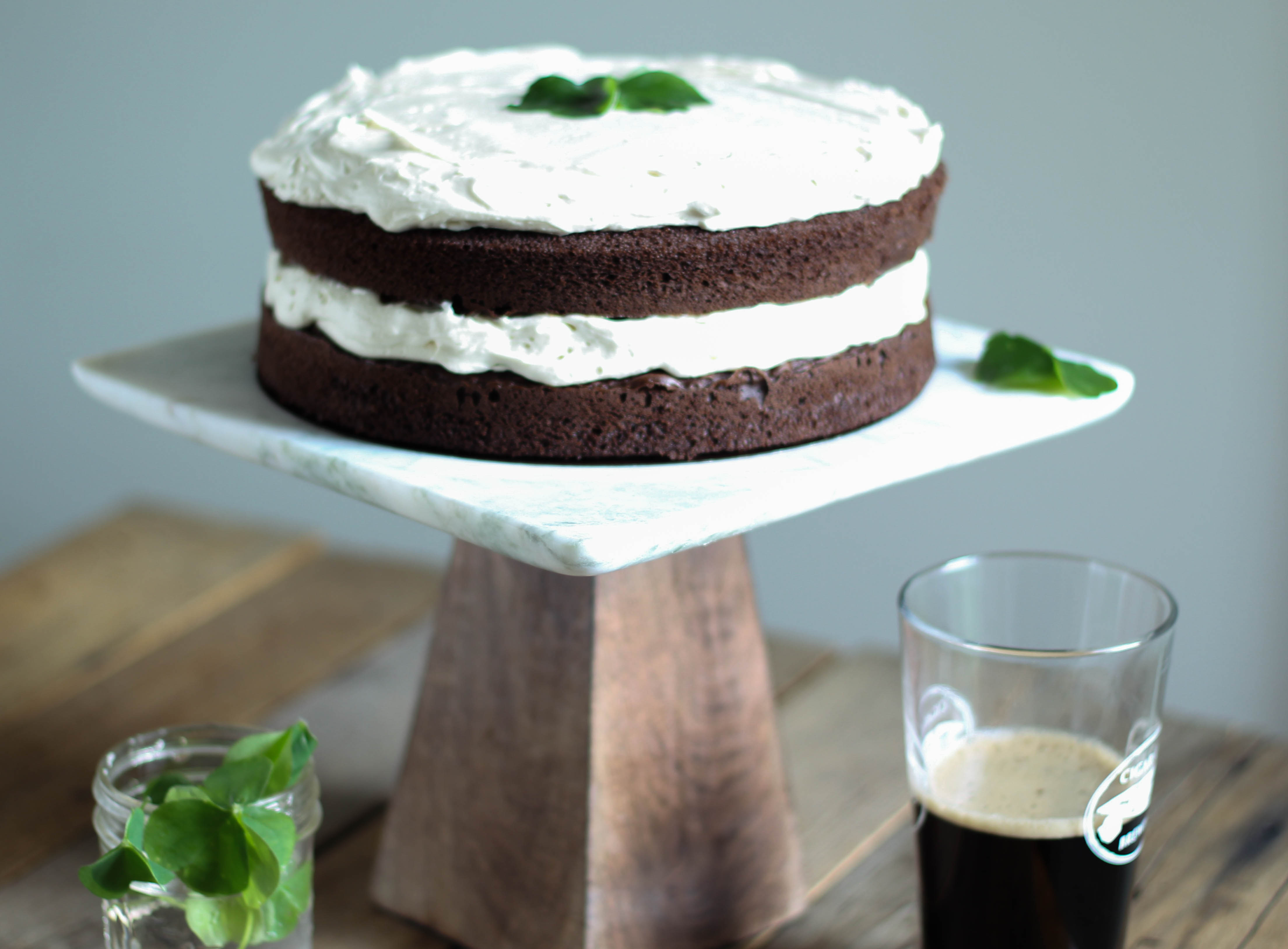 Double Chocolate Stout Cake with Baileys Buttercream | Suwannee Rose