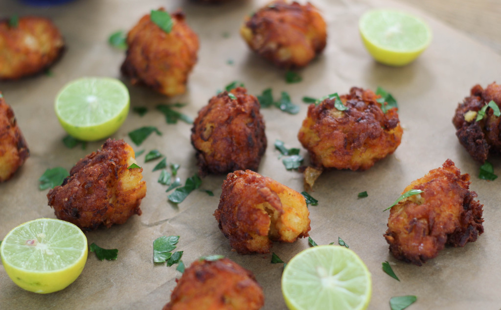 grouper fritters and key limes