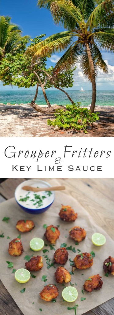 Florida Keys Grouper Fritters with Key Lime Sauce