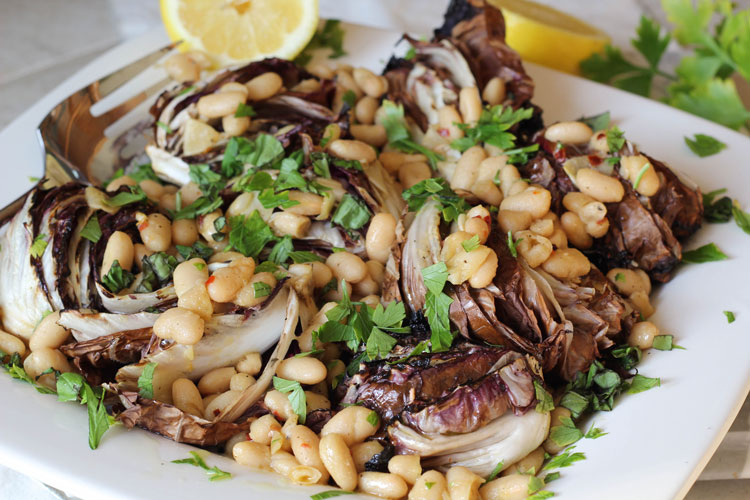 grilled radicchio and cannellini beans