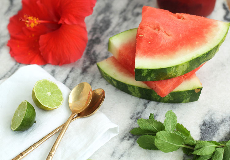 how to make watermelon rose cooler