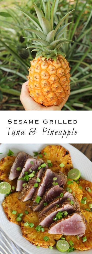 Sesame Grilled Blackfin Tuna with Pineapple!