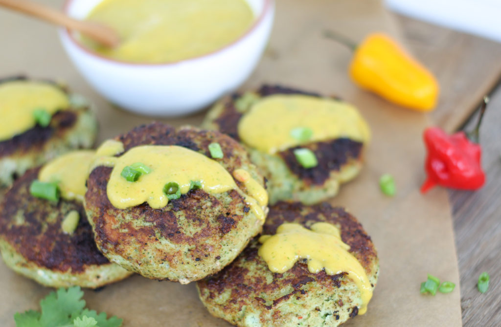 Coconut Fish Burgers with Spicy Mango Sauce