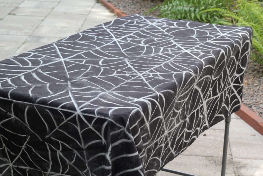 First You Trace The Spiderweb Pattern With Chalku2026 Spiderwebtablecloth