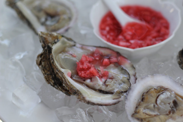 Pine Island Oysters with Radish Mignonette