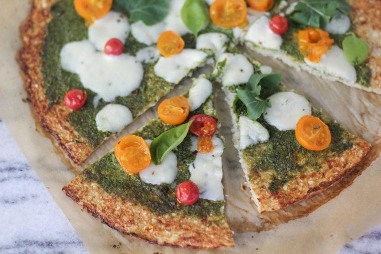 Arugula Pesto Cauliflower Pizza
