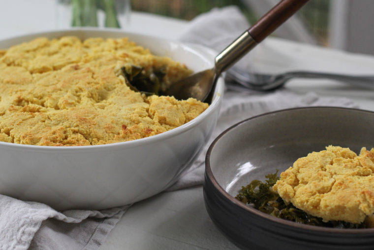 Collard & Cornbread Pot Pie