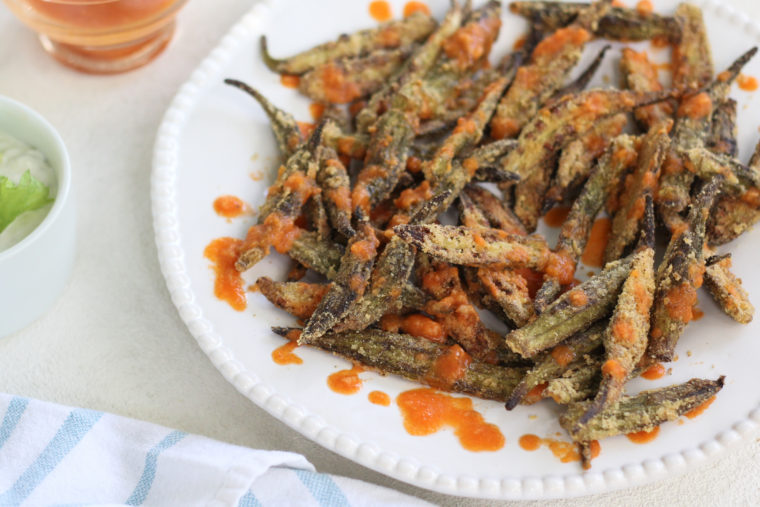 Buffalo Okra Fries