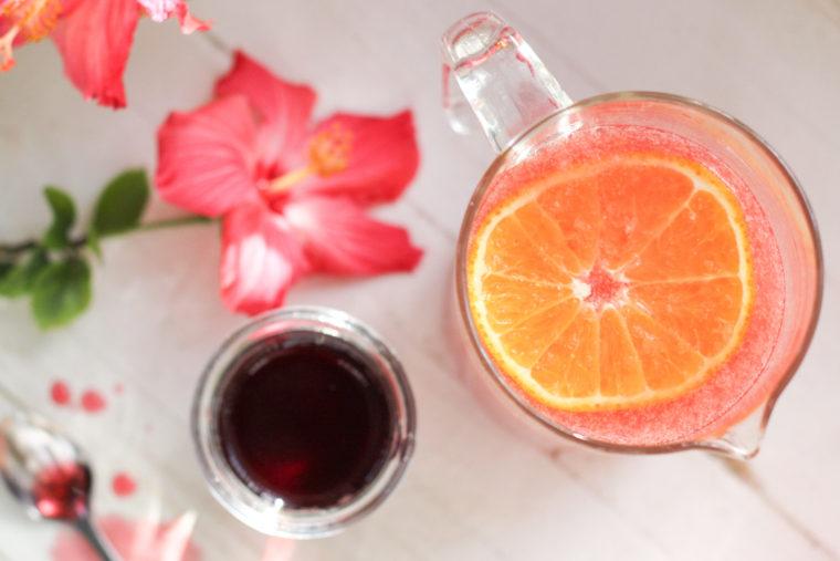 Honeybell Hibiscus Margaritas