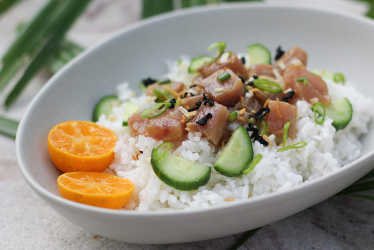Tuna Poke with Florida Citrus Ponzu