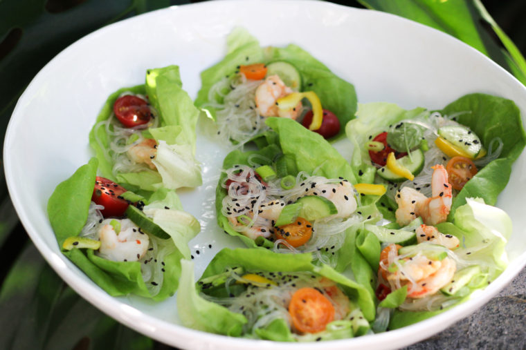 Sesame Shrimp and Glass Noodle Salad